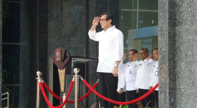 Apel Perdana 2017, Pegawai Kemenkumham Deklarasikan Janji Kinerja