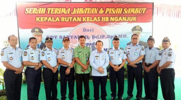 Kadiv PAS Jatim Pimpin Serah Terima Jabatan Karutan Nganjuk