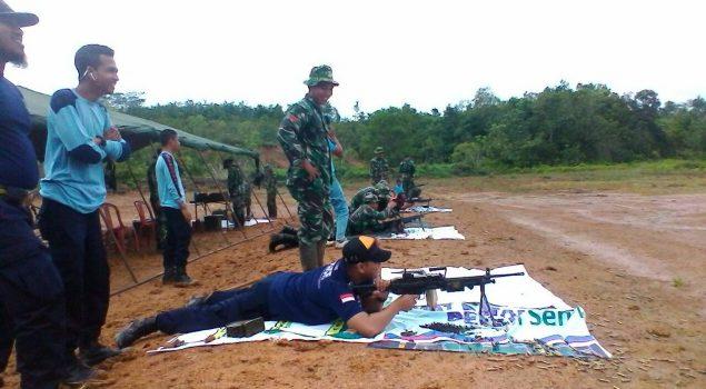 Petugas Lapas Tanjung Latihan Menembak Bersama Kompi Senapan A Tabalong