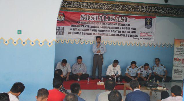Sosialisasi Pemilu Diharapkan Tingkatkan Partisipasi WBP Rutan Serang