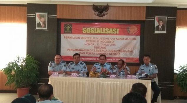 Kalapas Semarang Sosialisasikan Permenkumham Nomor 33 Tahun 2015