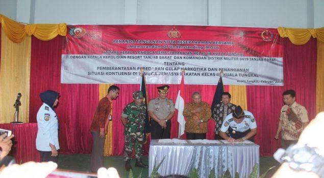 Perkuat Pengamanan, Lapas Kuala Tungkal Libatkan Polres & Kodim
