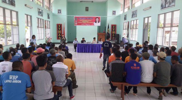 WBP Lapas Ambon Ikuti Diskusi Publik Bersama Anggota DPD & LBH