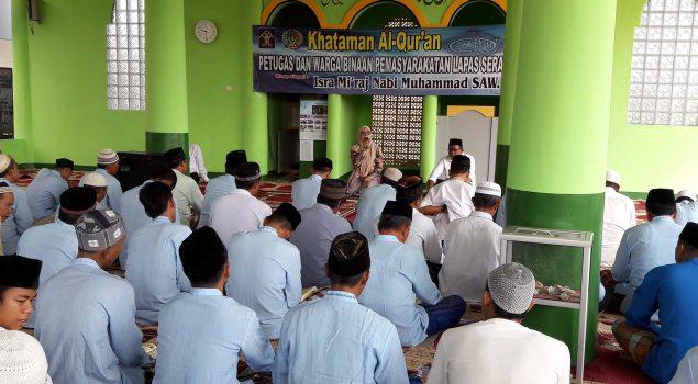 Khataman & Hafiz Al Quran Isi Isra Mi'raj di Lapas Serang