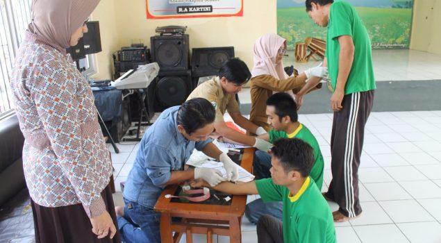 Pastikan Kesehatan WBP Sambut Ramadhan, Rutan Rangkasbitung Gelar VCT Mobile