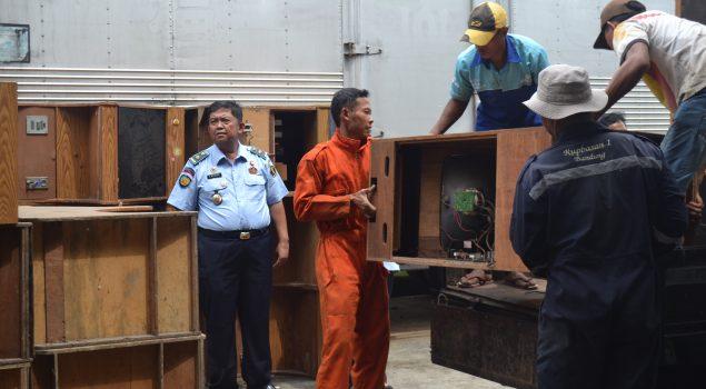 Rupbasan Bandung Keluarkan 144 Unit Mesin Ketangkasan