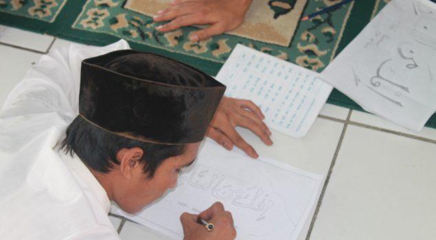 Evaluasi Program Ponpes, WBP Rutan Rangkasbitung Ikuti Lomba Kaligrafi