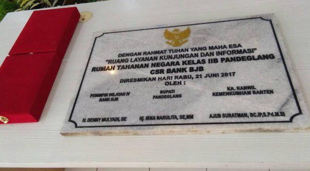 Rutan Pandeglang Kini Lengkap dengan Gedung Layanan Informasi & Kunjungan