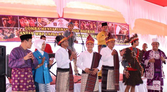 Lomba Menyanyi di Lapas Pekanbaru Pacu Semangat Cinta Budaya