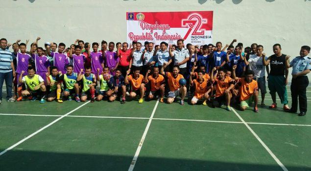 Futsal Rutan Serang Meriahkan Peringatan HUT RI ke-72