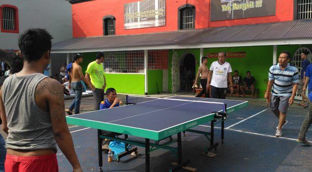 WBP Rutan Serang Minati Lomba Tenis Meja