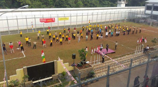 Silaturahmi dan Olahraga Bersama 3 Pilar, Rutan Depok, dan Pokdarkamtibmas
