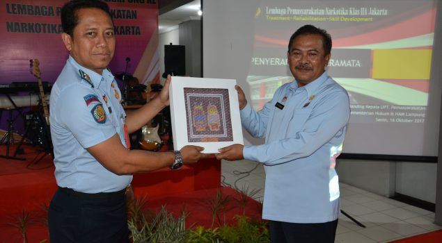 Divisi PAS Lampung Studi Banding ke Lapas Narkotika Jakarta