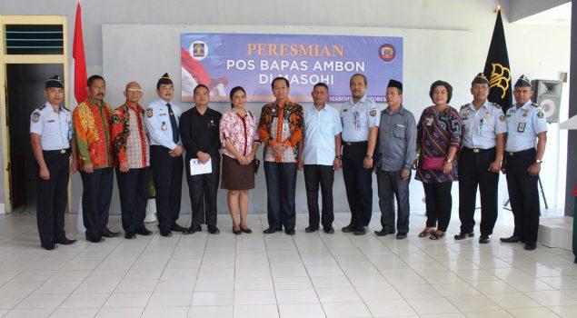 Kakanwil Maluku Resmikan Pos Bapas di Rutan Masohi