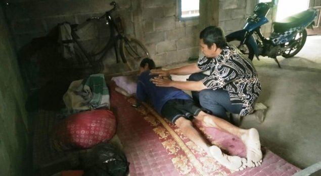 Ayah Klien Sakit, PK dan Kabapas Yogya Sambangi Klien