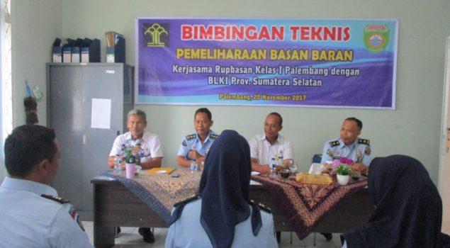 Bimtek Pemeliharaan Jaga Mutu Basan Baran di Rupbasan Palembang