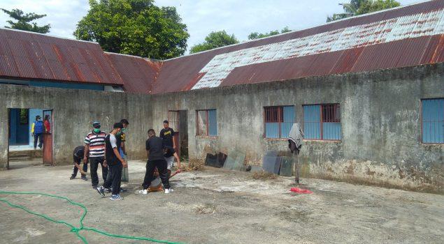 CPNS Maluku Gotong Royong Bersihkan Rudenim