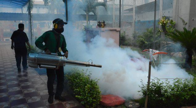 Fogging Cegah DBD di Lapas Narkotika Jakarta