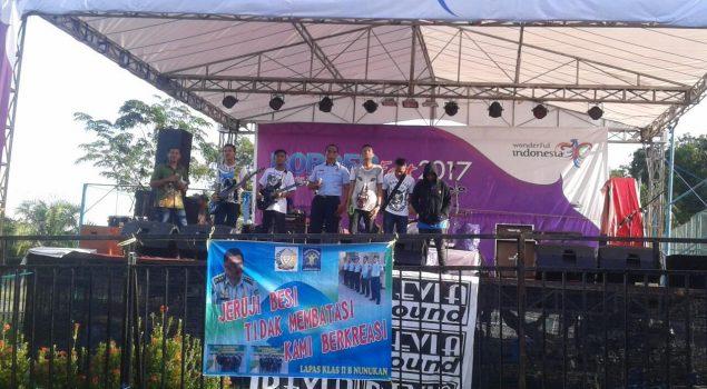 Band WBP Unjuk Gigi di Festival Band Kreatif Kab. Nunukan