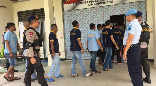 35 Napi Lapas Batam Dipindah ke Tanjungpinang