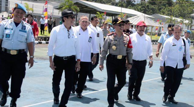 Menkumham Ajak Kapolri, Ka. BNN, & Ka. BNPT Tinjau Lapas High Risk Nusakambangan