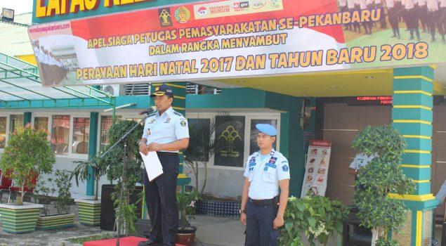 Apel Siaga Kanwil Riau Cegah Gangguan Kamtib Jelang Natal & Tahun Baru