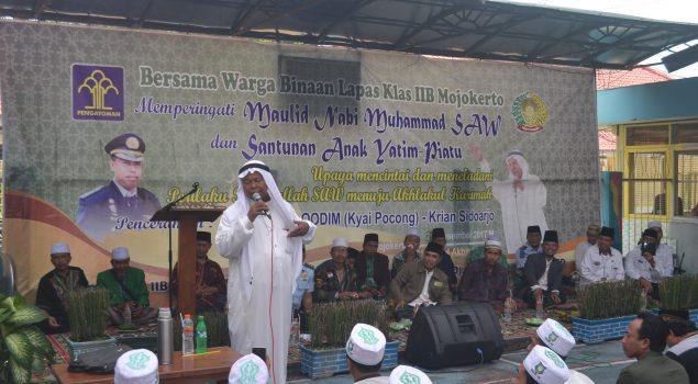 Peringati Maulid Nabi, Lapas Mojokerto Santuni 50 Yatim Piatu