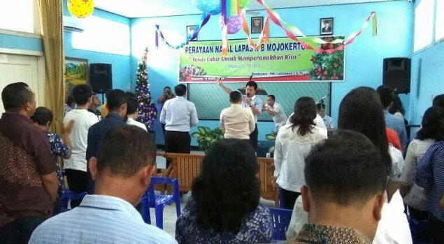 WBP Rayakan Natal Bersama Gereja se-Mojokerto