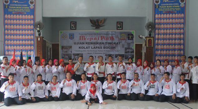 Puluhan Petugas Lapas Bogor Lulus Tes Sabuk Merah Merpati Putih