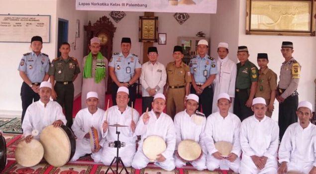 Ratusan Narapidana Hadiri Peringatan Maulid Di Lapas Narkotika Palembang