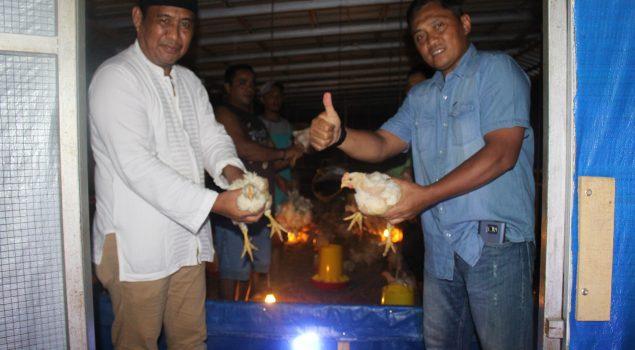 Usai Lele, Lapas Pekanbaru Panen Ayam Potong