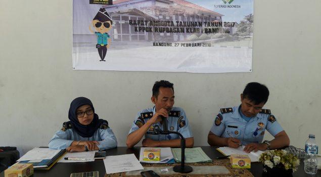 KPPDK Rupbasan Bandung Pertanggungjawabkan Kepengurusan 2017