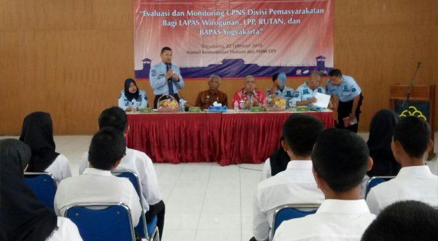 Kabapas Yogya Laporkan Evaluasi Orientasi CPNS