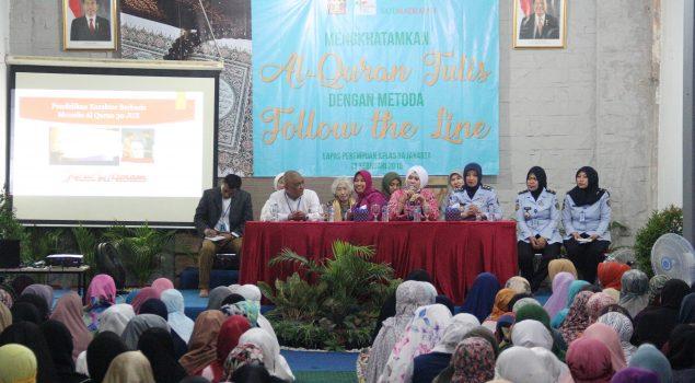 """""""Follow The Line"""" Permudah WBP Lapas Perempuan Jakarta Khatam Quran"""
