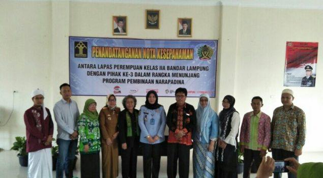 Lapas Perempuan Lampung Jalin MoU dengan 13 Instansi