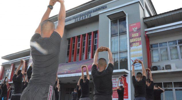 101 CPNS Ramaikan Senam Bersama di Lapas Narkotika Jakarta
