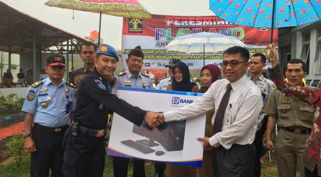 Lapas Gunung Sugih Persiapkan Layanan E-Gov, Bank BRI Bandar Jaya Bantu Personal Computer