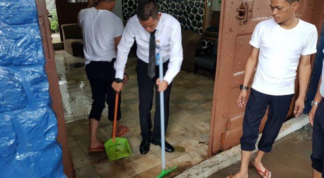 Semangat Tak Padam Walau Banjir Genangi LPKA Jakarta