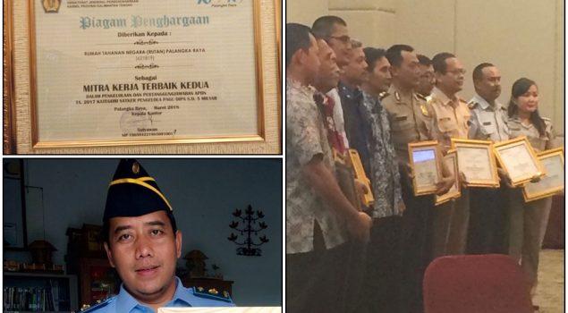 Rutan Palangkaraya Raih Prestasi Sebagai Mitra Kerja Terbaik Kedua Dari KPPN