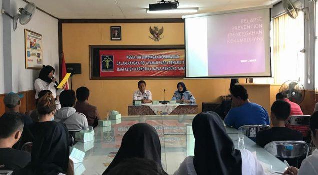 Klien Bapas Bandung Dibimbing Jauhi Narkoba