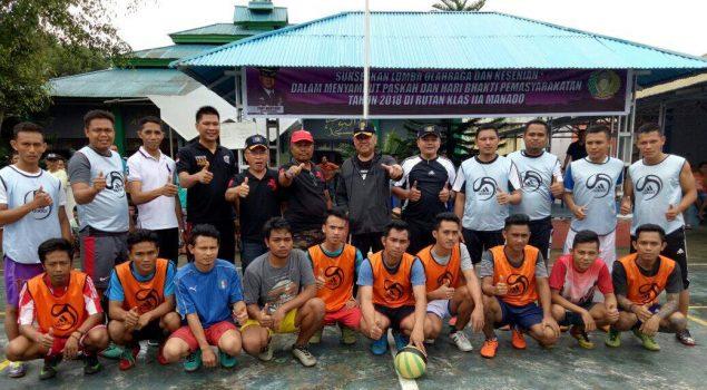 Sambut HUT Pemasyarakatan 54, Rutan Manado Gelar Pertandingan Olahraga