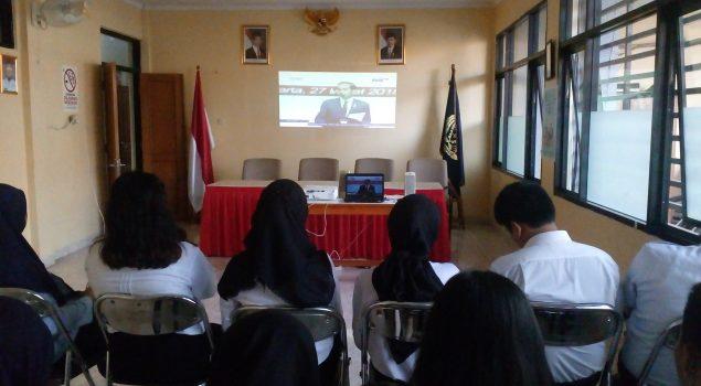 CPNS Bapas Jakarta Selatan Dengarkan Presidential Lecture