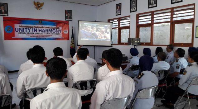 CPNS Bapas Kediri Dengarkan Presidential Lecture Presiden Jokowi