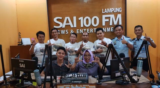 Trabas Band Lapas Bandar Lampung Mengudara di Radio SAI 100FM