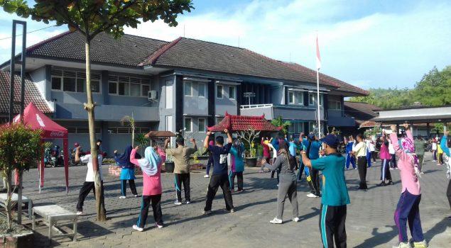 Rutan Bantul Tuan Rumah Senam Bersama se-Kecamatan Pajangan