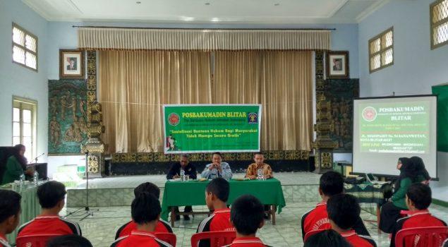 LPKA Blitar Sosialisasi Bantuan Hukum Gratis Bagi Masyarakat dan Anak Berhadapan dengan Hukum