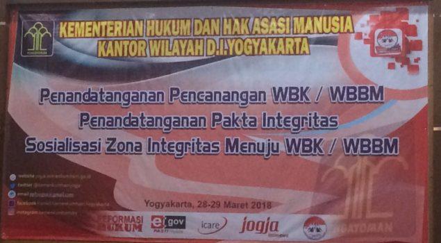 Karutan Bantul Teken Pakta Integritas Pencanangan WBK/WBBM