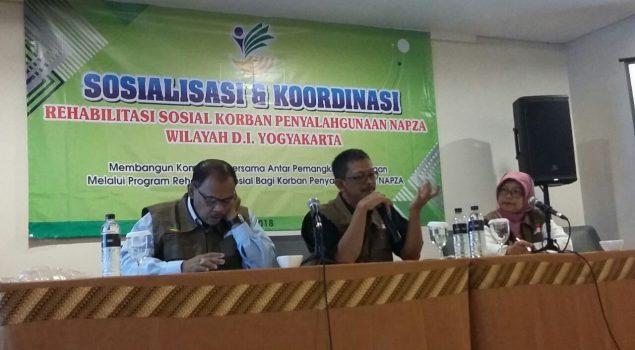 Perwakilan Bapas Yogya Hadiri Sosialisasi dan Koordinasi Korban Penyalahgunaan Napza