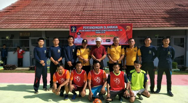 Sportivitas WBP Jaga Keamanan Lapas Gunung Sugih