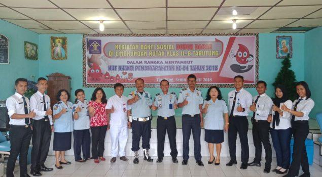 Bakti Sosial, Petugas Rutan Tarutung Sumbangkan Darah
